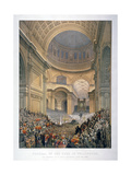 Interior of St Paul's Cathedral During the Funeral of the Duke of Wellington  London  1852