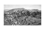 The South Lancashires Storming the Boer Trenches at Pieters Hill  Natal  1900
