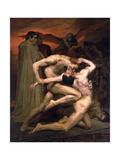 Dante and Virgil in Hell, 1850 Giclée par William-Adolphe Bouguereau