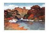 Autumn in Hundred Flower Garden at Muko-Jima  C1900-1950