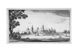 View of Windsor Castle  Berkshire  1644