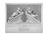 Sculptures Outside the Entrance to Old Bethlehem Hospital  Moorfields  City of London  1783