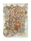 Monogram Page from the Book of Kells Christi Auteum Generatio  C800