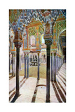 Court of the Lions, the Alhambra, Granada, Andalusia, Spain, C1924 Giclée