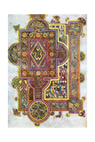 Opening Words of St Luke's Gospel Quoniam from the Book of Kells, C800 Giclée