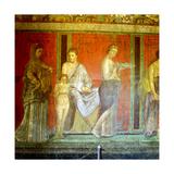 Fresco from the Villa of the Mysteries  Pompeii  Italy  C1st Century Bc-1st Century Ad