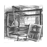 A Spitalfields Silk Weaver at His Hand Loom  1884