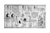 Judgement of the Dead  from the Temple of Deir-El-Bahari  Egypt  C1025 BC