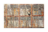 Section from the Mayan Troano Codex  15th Century