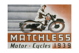 Poster Advertising Matchless Motor Bikes  1939