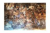 King Mahajanaka Listening to Queen Vivali  Ajanta Cave Fresco  India  1st-5th Century Ad