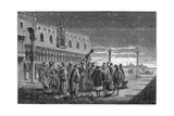 Galileo Demonstrating His Telescope  Venice  1609