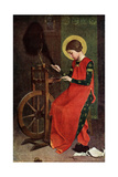 St Elizabeth of Hungary Spinning Wool for the Poor  1901