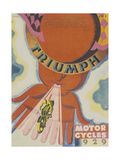 Poster Advertising Triumph Motor Bikes  1929