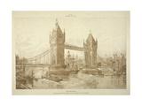 View of Tower Bridge  London  C1964