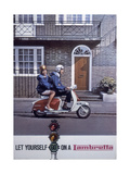 Poster Advertising Lambretta Scooters  1963
