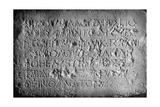 A Tablet Outside Herod's Temple  Jerusalem  Forbidding Strangers to Enter  1926