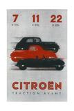Poster Advertising Citroën Cars  1934