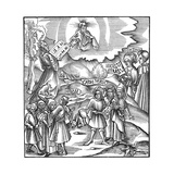 Languages: Moses Receiving from God the Tablets of the Law in Hebrew  1512