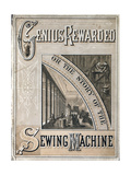Cover of Genius Rewarded  or the History of the Singer Sewing Machine  1880