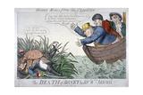 The Death of Boney by Sir Wm Biscuit!, 1809 Giclée par George Cruikshank