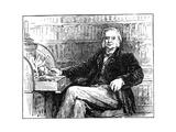 Thomas Henry Huxley  British Biologist  at His Desk  C1880
