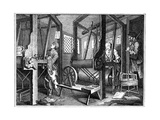 Weaving at Spitalfields  London  1747