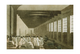 Interior of the Cloth Hall  Leeds  1814