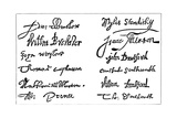Signatures of the Pilgrim Fathers  1620S