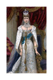 Queen Alexandra in Full Coronation Robes  1902