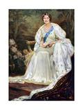 Queen Elizabeth in Coronation Robes  1937