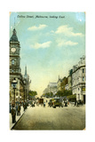 Collins Street  Looking East  Melbourne  Victoria  Australia  C1900s
