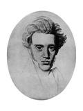 Soren Kierkegaard  Danish Philosopher and Theologian  C1840