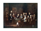 A Committee of the House of Commons at the Fleet Street Prison  London  1729