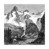 Rush Creek Glacier  on the Eastern Slopes of the Sierra Nevada  California  USA  1875