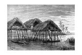 Lake Dwellings of Santa Rosa  Near Maracaibo  Venezuela  1895