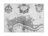 Map of Westminster  the City of London and Southwark  1720