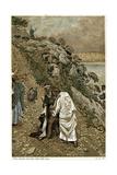 Jesus Casting Devils Out of a Kneeling Man  C1890