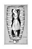 Diagram of Mrs Anne Edson Taylor in the Barrel in Which She Plunged over the Niagara Falls  1901