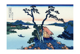 Lake Suwa in the Shinano Province, 1830-1833 Giclée par Katsushika Hokusai
