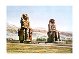 The Colossi of Memnon  Egypt  20th Century