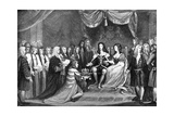 Parliament Offering the Crown to William and Mary  1689