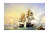 The Russian Cutter Mercury Captures Swedish 40-Gun Frigate Venus on May 21St  1789  1845