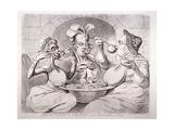 George III Feeding Himself on Guineas  London  1787
