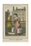 Milk Below!  Cries of London  1804