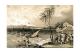 Setting in of the Monsoon  Cannanore Fort  1847
