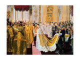 The Wedding of Tsar Nicholas II and the Princess Alix of Hesse-Darmstadt on November 26  1894