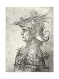 A Bust of a Warrior in Profile, 1882 Giclée par Leonardo Da Vinci