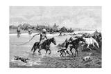 Kyrgyz Crossing a River  Kyrgyzstan  1895