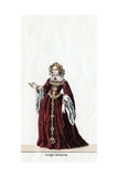 Queen Katharine  Costume Design for Shakespeare's Play  Henry VIII  19th Century